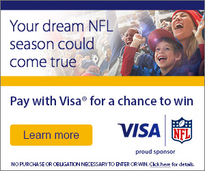 Pay with Visa for a chance to win
