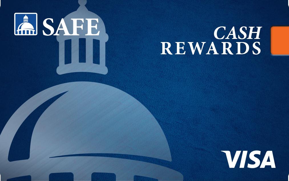 SAFE Credit Union Visa Credit Cards with Cash Rewards, Travel Rewards