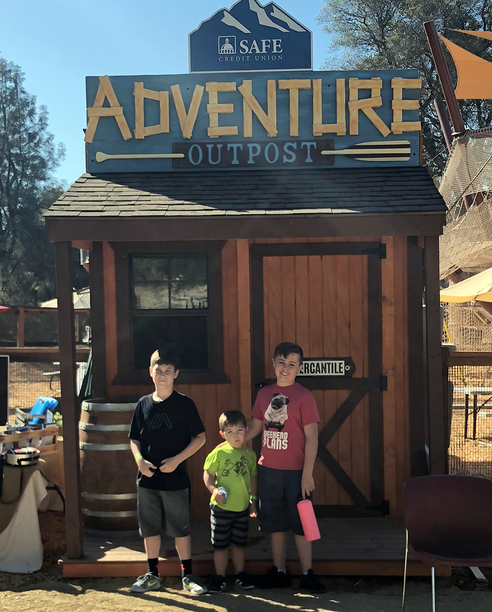 Quarry Park SAFE Adventure Outpost with Noah, Parker and Braden